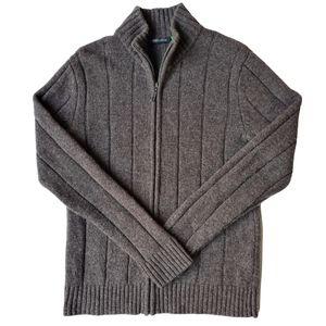Catullus Mens Wool Blend Zipper Jacket Jumper